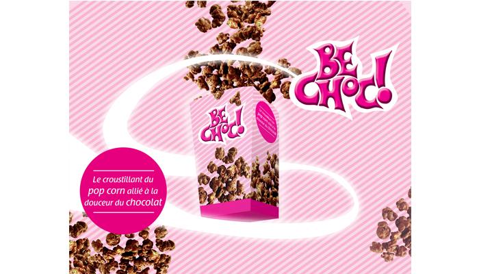 Pop Corn Be Choc - Publicité